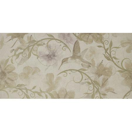 Ceramstic Canvas Colibri Płytka ścienna 60x30 cm, dekor kwiaty DGL-187A-C