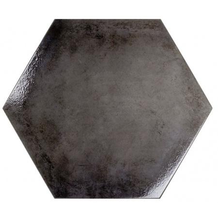 Ceramstic Hexon Anthracite Płytka ścienna/podłogowa 60x52 cm gres szkliwiony, błyszcząca DG.234B