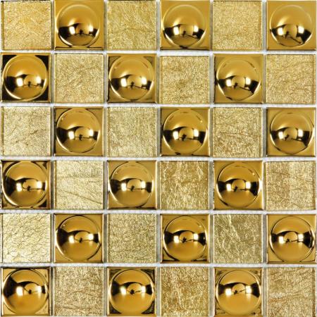 Ceramstic Lafia Mozaika szklano-metalowa 30x30 cm, złota MSM-19