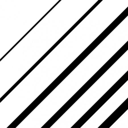Ceramstic Opp! Lines Płytka ścienna/podłogowa gresowa 60x60 cm, biała/czarna DG-144B-L