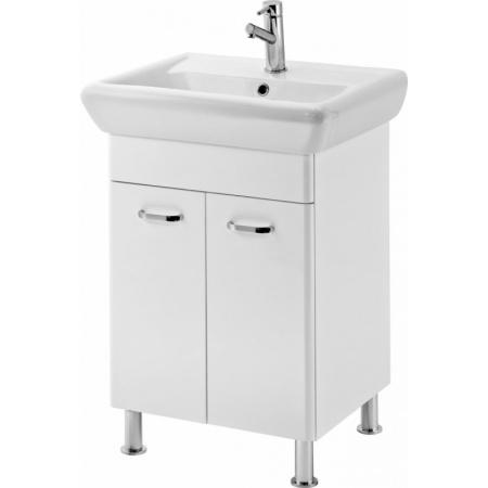 Cersanit Alpina/Iryda Zestaw Szafka podumywalkowa stojąca z umywalką meblową 50,5x47,5 cm, biała S802-001-DSM