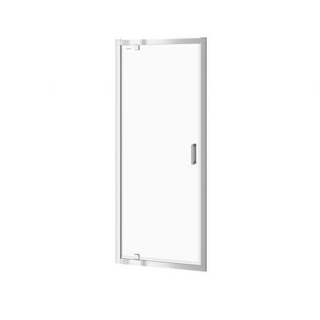 Cersanit Arteco Drzwi prysznicowe uchylne 80x190 cm profile chrom szkło transpartentne CleanPro S157-007