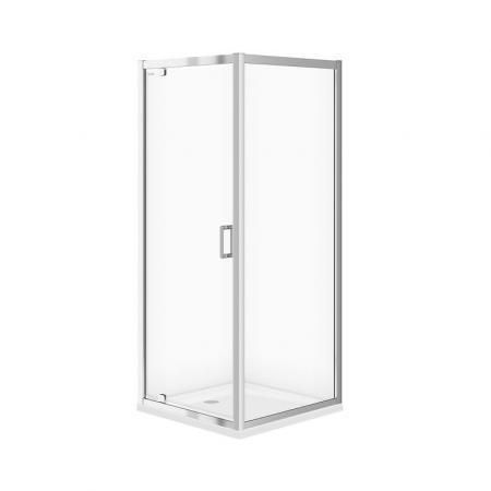Cersanit Arteco Kabina prysznicowa narożna 80x80x190 cm profile chrom szkło transpartentne CleanPro S157-009