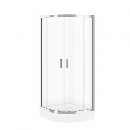 Cersanit Arteco Kabina prysznicowa półokrągła 80x80x190 cm profile chrom szkło transpartentne CleanPro S157-001