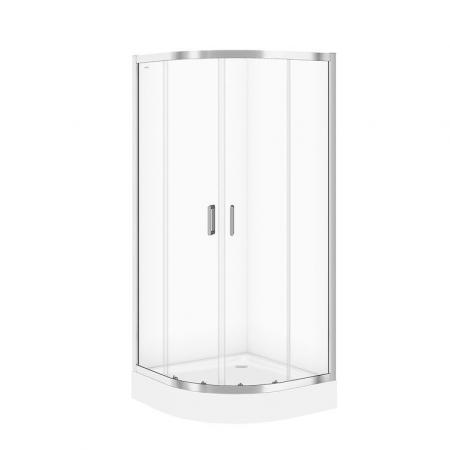 Cersanit Arteco Kabina prysznicowa półokrągła 90x90x190 cm profile chrom szkło transpartentne CleanPro S157-002