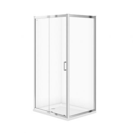 Cersanit Arteco Kabina prysznicowa prostokątna 100x80x190 cm profile chrom szkło transpartentne CleanPro S157-011