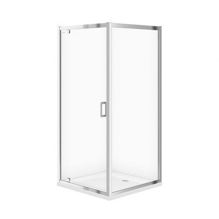 Cersanit Arteco SET B153 Kabina prysznicowa kwadratowa 90x90x190 cm z brodzikiem Tako profile chrom szkło transpartentne CleanPro S601-116