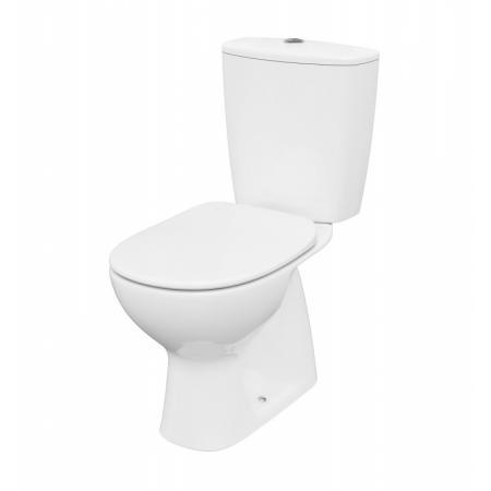 Cersanit Arteco Toaleta WC kompaktowa 64,5x36 cm CleanOn bez kołnierza z deską wolnoopadającą i spłuczką biała K667-074