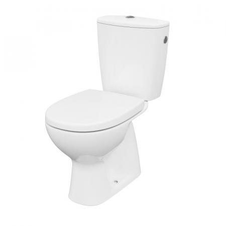 Cersanit Arteco Toaleta WC kompaktowa 64,5x36 cm CleanOn bez kołnierza z deską wolnoopadającą i spłuczką biała K667-075