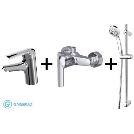 Cersanit Avedo Set 943 Zestaw Bateria umywalkowa z baterią prysznicową i zestawem prysznicowym Vibe, chrom S952-002