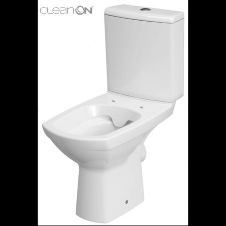 Cersanit Carina New Toaleta WC kompaktowa 63x35 cm CleanOn bez kołnierza, biała K31-045