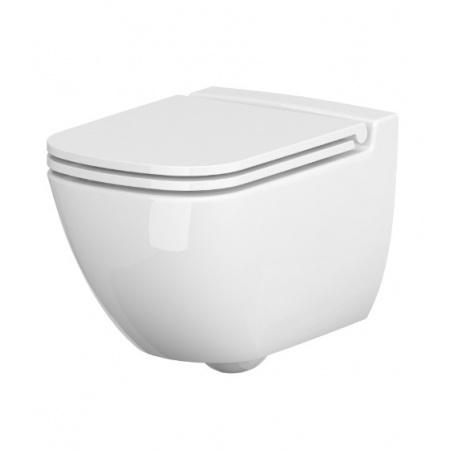 Cersanit Caspia Toaleta WC podwieszana 54x36,5 cm CleanOn bez kołnierza z ukrytym mocowaniem, biała K11-0233