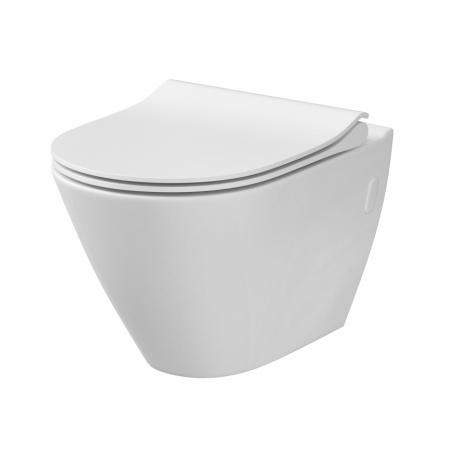 Cersanit City Oval Toaleta WC podwieszana 50x36 cm CleanOn bez kołnierza wewnętrznego, biała K35-015