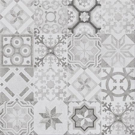 Cersanit Concrete Style Inserto Patchwork Płytka podłogowa 42x42 cm, szara WD475-006