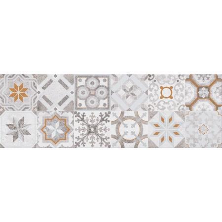 Cersanit Concrete Style Inserto Patchwork Płytka ścienna 20x60 cm, szara WD475-009