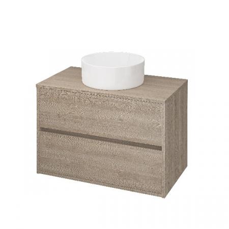 Cersanit Crea Szafka podumywalkowa 79,4x45x53 cm z blatem uniwersalnym, dąb S924-010