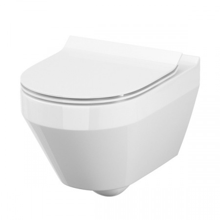 Cersanit Crea Toaleta WC podwieszana 52x35,5 cm owalna CleanOn bez kołnierza z ukrytym mocowaniem, biała K114-015