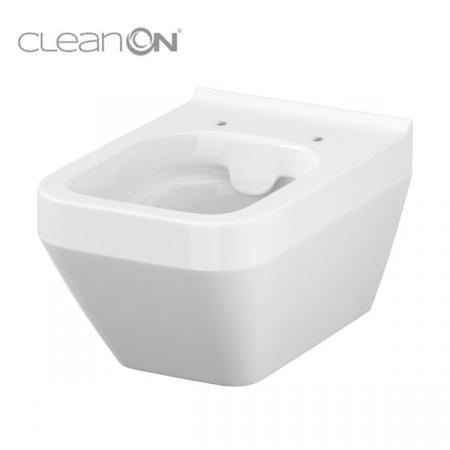 Cersanit Crea Toaleta WC podwieszana 52x35 cm prostokątna CleanOn bez kołnierza z ukrytym mocowaniem, biała K114-016