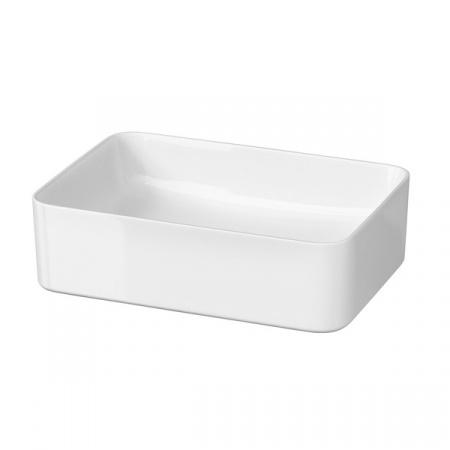 Cersanit Crea Umywalka nablatowa 49,5x34,5 cm bez otworów, biała K114-001