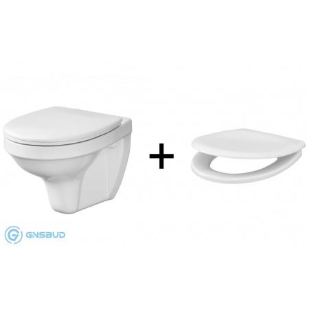 Cersanit Delfi Zestaw Toaleta WC podwieszana 51x36 cm + deska zwykła biały K97-140
