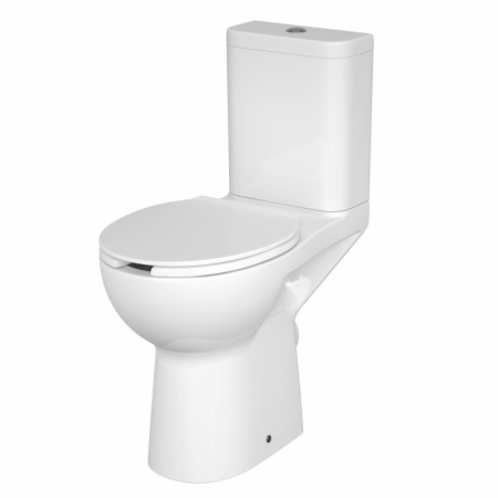 Cersanit Etiuda Toaleta WC kompaktowa 37,5x67,5x86,5 cm CleanOn bez kołnierza, biała K11-0221