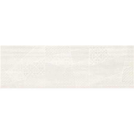 Cersanit Ferano White Patchwork Inserto Satin Płytka ścienna 24x74 cm, biała ND859-004