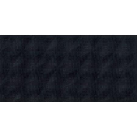 Cersanit PS802 Black Satin Geo Structure Płytka ścienna 29x59 cm, czarna W566-010-1