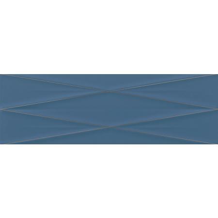 Cersanit Gravity Marine Blue Silver Inserto Satin Płytka ścienna 24x74 cm, niebieska ND856-014