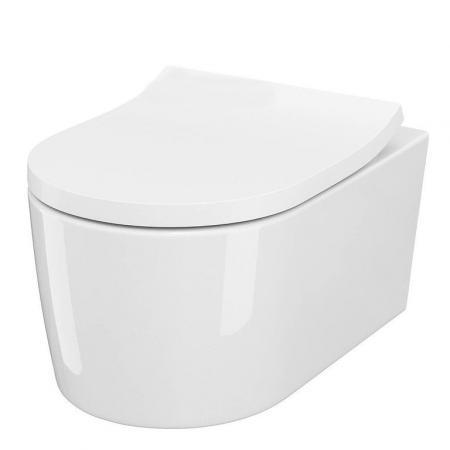 Cersanit Inverto SET B252 Toaleta WC podwieszana StreamOn bez kołnierza z deską wolnoopadającą biała S701-432