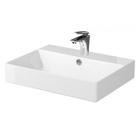 Cersanit Inverto Umywalka nablatowa 60x45 cm biała K671-005
