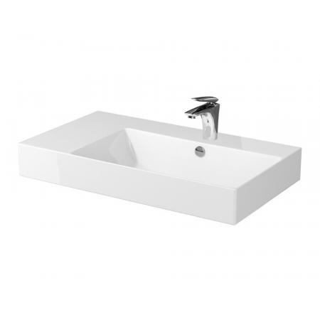 Cersanit Inverto Umywalka nablatowa 80x45 cm lewa biała K671-016