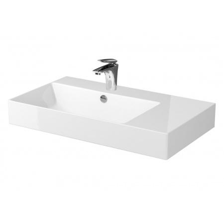 Cersanit Inverto Umywalka nablatowa 80x45 cm prawa biała K671-006