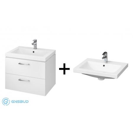 Cersanit Lara Como SET 809 Zestaw Umywalka meblowa z szafką podumywalkową, biały S801-147-DSM