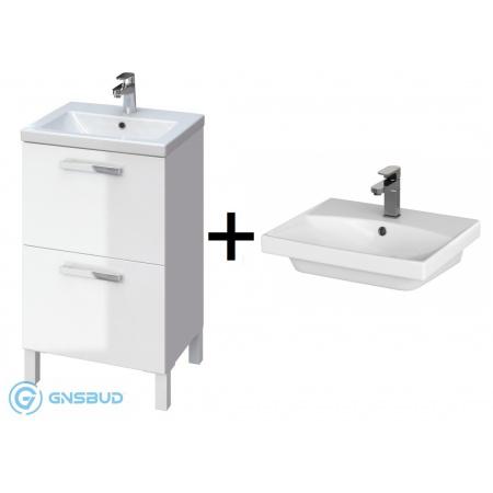 Cersanit Melar/City Zestaw Umywalka z szafką 50x40 cm, biały S614-009+K35-005
