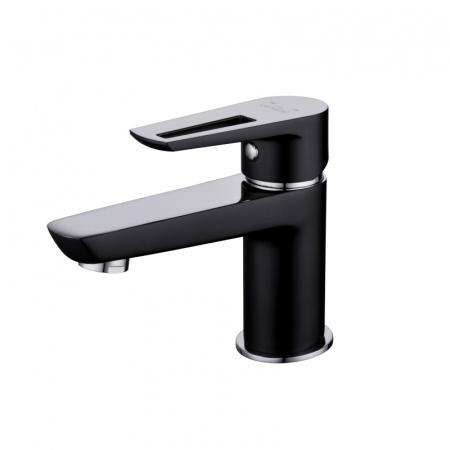 Cersanit Mille Black Jednouchwytowa bateria umywalkowa, czarny/chrom S951-048