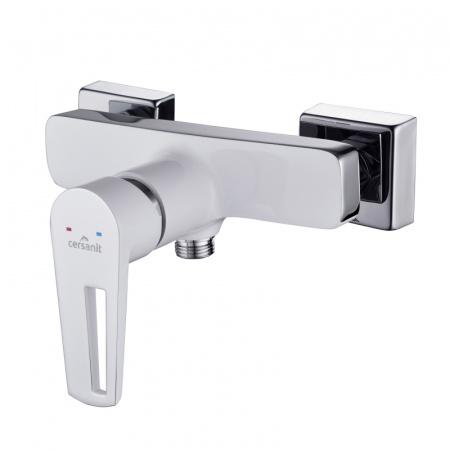 Cersanit Mille White Jednouchwytowa bateria prysznicowa ścienna, biała/chrom S951-033