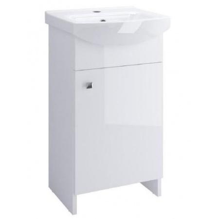 Cersanit Sati Cersania Zestaw Szafka podumywalkowa 40 cm stojąca z umywalką, biały S567-001-DSM