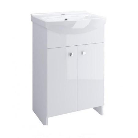 Cersanit Sati Cersania Zestaw Szafka podumywalkowa 50 cm stojąca z umywalką, biały S567-002-DSM
