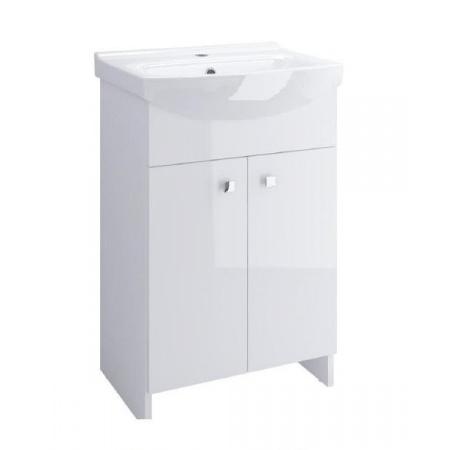 Cersanit Sati Cersania Zestaw Szafka podumywalkowa 60 cm stojąca z umywalką, biały S567-006-DSM