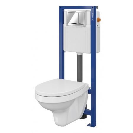 Cersanit Set 895 Aqua Zestaw Toaleta WC podwieszana 52x36 cm z deską sedesową wolnoopadającą i stelażem mechanicznym Aqua 22, biały S701-216