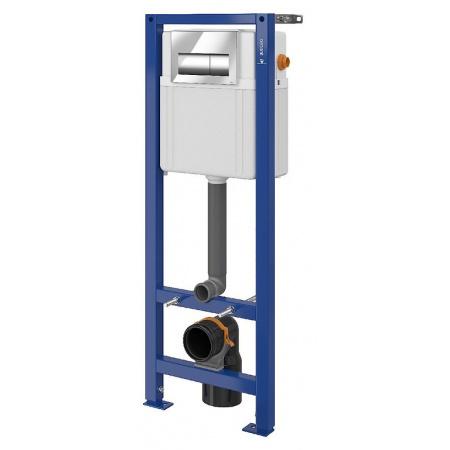 Cersanit Set B78 Aqua Zestaw Stelaż mechaniczny podtynkowy do WC Aqua 22 z przyciskiem Presto, chrom błyszczący S701-329