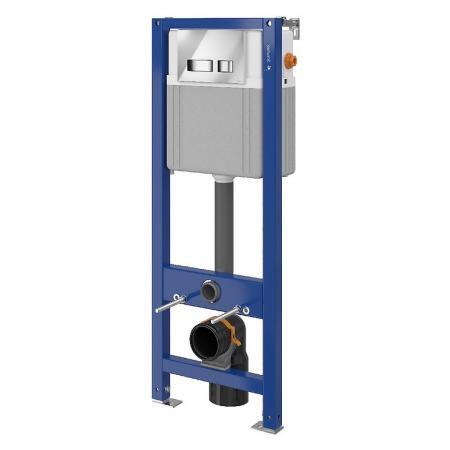 Cersanit Set B79 Aqua Zestaw Stelaż mechaniczny podtynkowy do WC Aqua 22 z przyciskiem Movi, chrom błyszczący S701-330