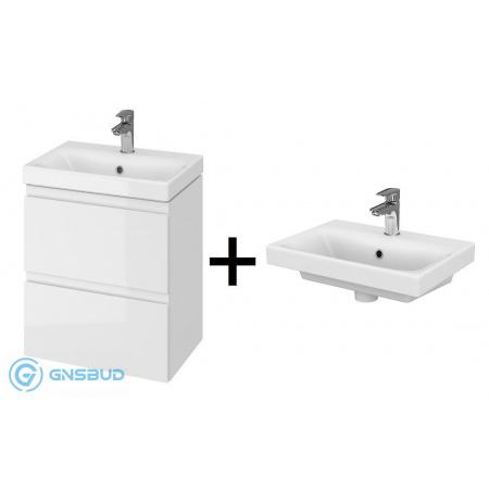 Cersanit Moduo Slim SET 983 Zestaw Umywalka meblowa 50x35 cm z szafką podumywalkową, biały S801-229