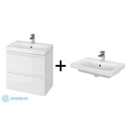 Cersanit Moduo Slim SET 981 Zestaw Umywalka meblowa 60x38 cm z szafką podumywalkową, biały S801-227