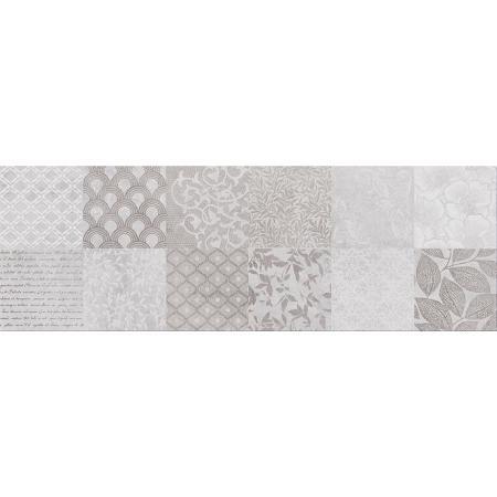 Cersanit Snowdrops Patchwork Płytka ścienna 20x60 cm, szara W477-002-1