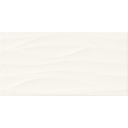 Cersanit Touch Me PS800 White Satin Wave Structure Płytka ścienna 29,8x59,8 cm, biała W562-002-1
