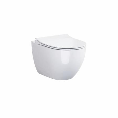 Cersanit Zen Zestaw Toaleta WC podwieszana 50x36 cm CleanOn bez kołnierza z deską wolnoopadającą slim Duroplast biała S701-428