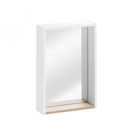 Comad Finka White 840 Lustro ścienne prostokątne z półką 40x60 cm, biały/biały połysk FINKABIAŁA840-40CM