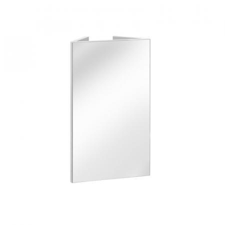 Comad Finka White 841 Lustro ścienne prostokątne narożne 40x66 cm, biały/biały połysk FINKABIAŁA841-CORNER