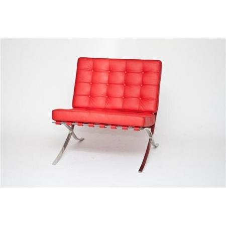 D2 BA1 Fotel inspirowany Barcelona 77x77x75 cm, czerwony 13497